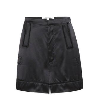shorts silk black