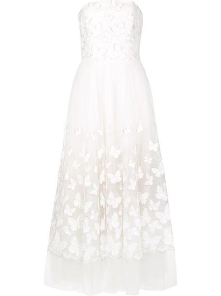 Marchesa Notte dress women butterfly white