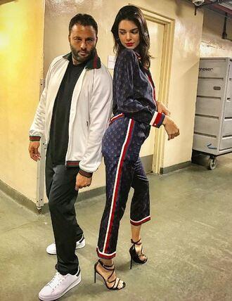 pants pajamas sandals blouse kendall jenner model off-duty kardashians
