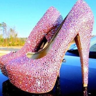 shoes pumps pink high heels