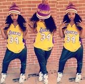 shirt,los angeles,lakers,purple,gold,ethiopian,hat,pants,shoes
