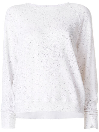 sweatshirt women white cotton sweater