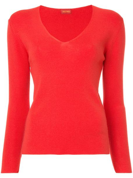 Des Pres jumper women wool red sweater