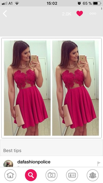 dress prom red dress short dress short red dress