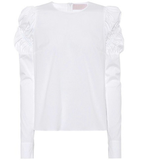 Peter Pilotto top cotton white
