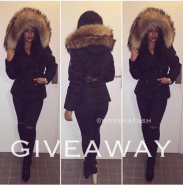 870819fe42be jacket big fur black black jacket winter jacket fur down jacket stylish  style most have