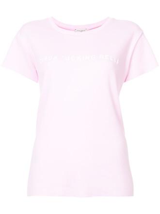 t-shirt shirt women cotton purple pink top