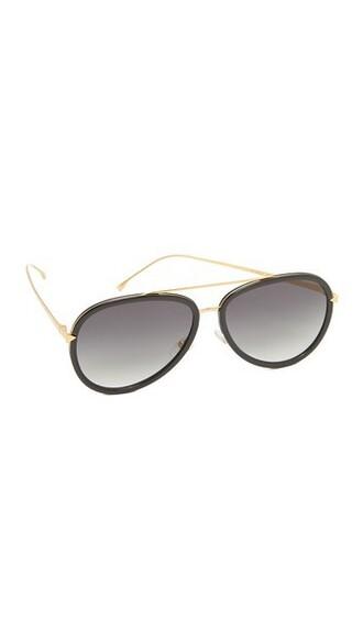 sunglasses aviator sunglasses gold black grey