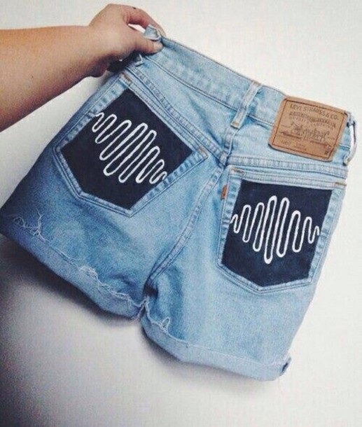 arctic monkeys denim shorts