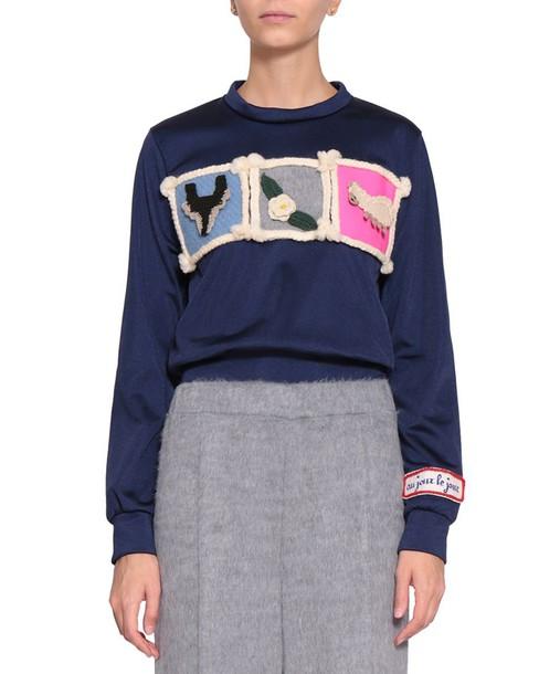 AU JOUR LE JOUR sweatshirt cropped sweater