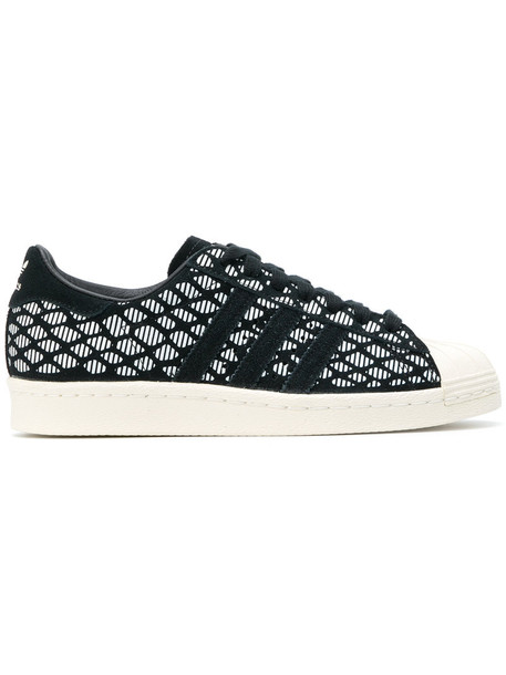 Adidas women sneakers leather suede black shoes