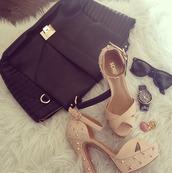 shoes,schutz,high heels,bag