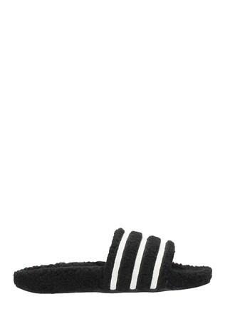 pool sandals black shoes