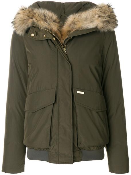 Woolrich jacket fur women green