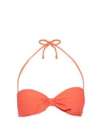 bikini bikini top bandeau bikini pink swimwear