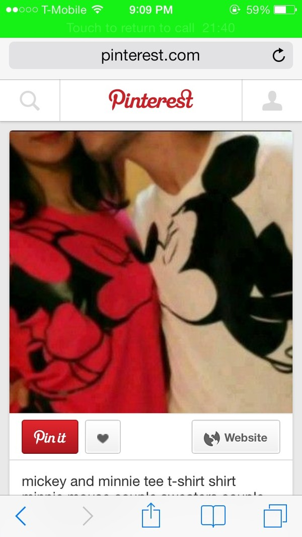 shirt red white mickey mouse minnie mouse couple shirts