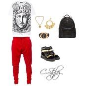 top,versace,bag,jeans,shoes