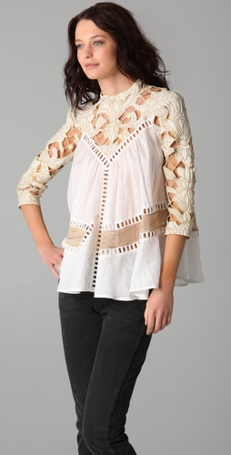 Zimmermann calm paneled smock top