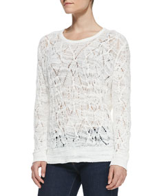 Kaitlyn Crewneck Crochet Sweater