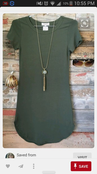 f17db4a8bbaa dress t-shirt dress green olive green summer fall outfits cute outfits  pretty beautiful outfit