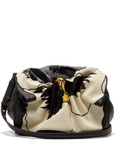 bag,shoulder bag,leather,white,black