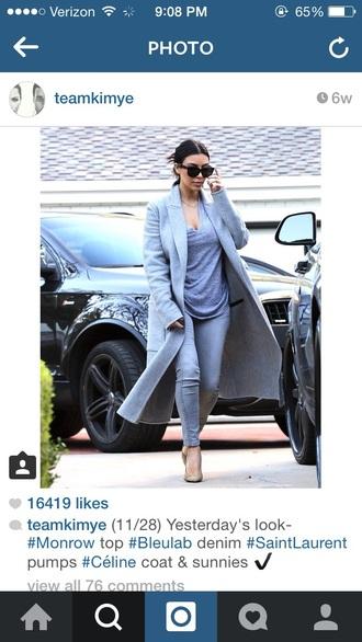 coat kim kardashian jeans