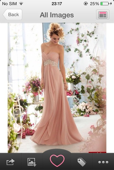 dress prom dress prom debs dress pink long chiffon pink dress debs