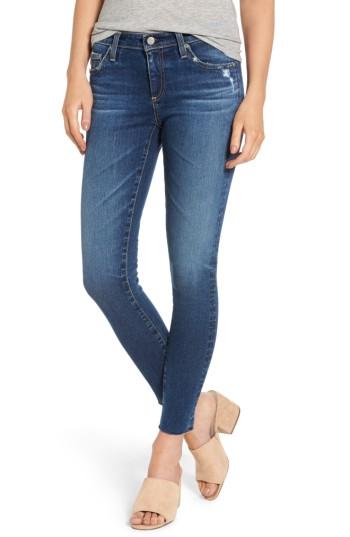 AG The Legging Raw Hem Ankle Skinny Jeans (12 Years Blue Dust)   Nordstrom
