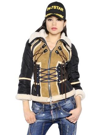 jacket black beige