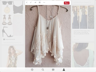 shirt tank top cream color lace top
