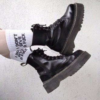 shoes black boots grunge combat boots pale aesthetic black boots socks