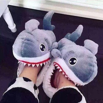 shoes slippers cute slippers shark sleepwear sleep