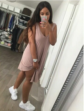 dress nude pink