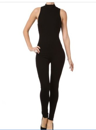 jumpsuit black black jumpsuit bodycon party outfits sexy sexy outfit fall outfits winter outfits classy cute girly date outfit clubwear