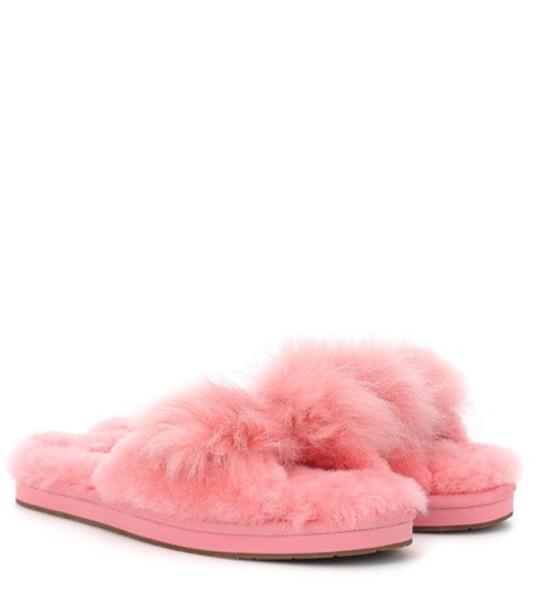 Ugg Mirabelle fur slipper in pink