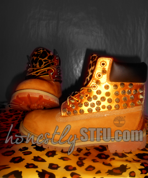 Leopard Spike Timberlands – Honestly Shut The Fuck Up