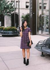 skirttherules,blogger,dress,socks,shoes,bag,ankle boots,fall outfits
