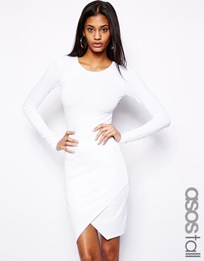 ASOS Tall | ASOS TALL Asymmetric Body-Conscious Dress at ASOS