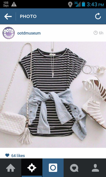 spring casual black and white blackandwhite ootd pretty dress