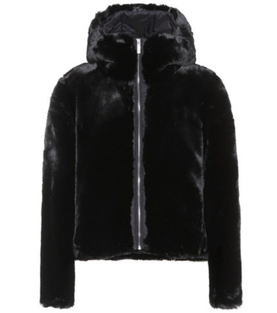 Fusalp jacket fur faux fur black