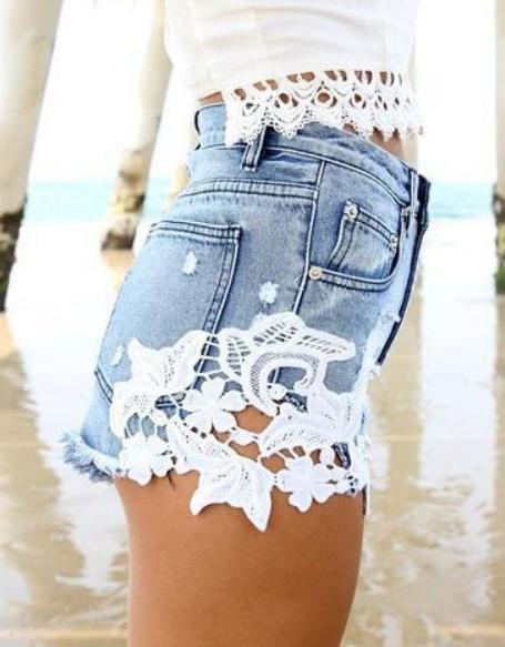 Fashion hot cute lace shorts
