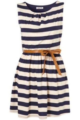 dress striped dress nautical dress