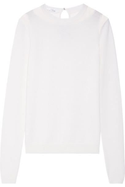 oscar de la renta sweater wool sweater wool cream