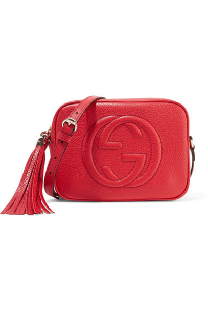 gucci bag shoulder bag leather red