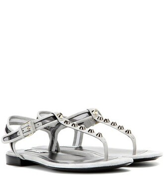 studded sandals suede grey shoes