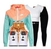 jacket,nike,jordans,mcm,black leggings,nike jacket,shoes,white crop tops,white shirt,crop tops,white top,windbreaker