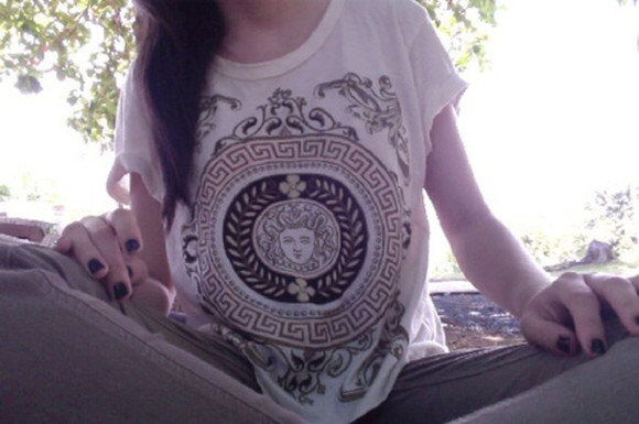 color boho hippie shirt versace tumblr me find pale cute blog blogging fashion