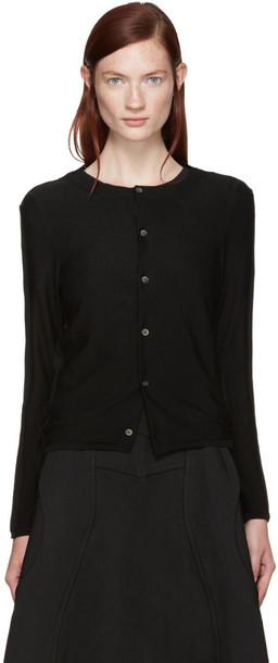Comme Des Garçons Black Wool Two-way Cardigan