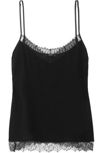camisole chiffon lace black silk underwear