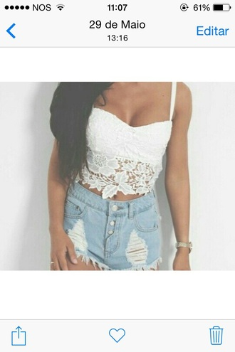 top lace crop top white lace crop top
